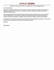 leading professional truck driver cover letter exles resources myperfectcoverletter