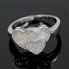 aliexpress com buy almei love heart rings for silver color wedding ring fashion jewelry
