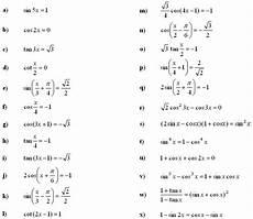 trigonometric equations formulas math exercises math problems trigonometric equations and inequalities