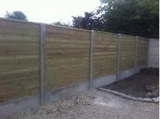 palissade jardin beton cl 244 ture bois b 233 ton douai 59 am 233 nagement ext 233 rieur en