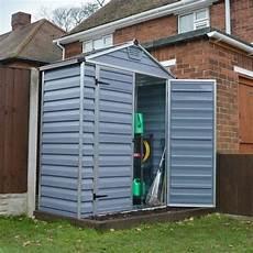 palram skylight plastic anthracite apex shed 6x3 garden street