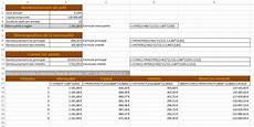 calcul d un pr 234 t et d un 233 ch 233 ancier avec excel