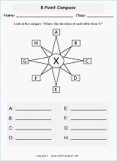 compass directions ks2 worksheets 11720 8 point compass activity printable grade 4 math worksheet
