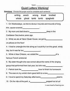 silent letter worksheets free printable 23760 silent letters worksheets teaching