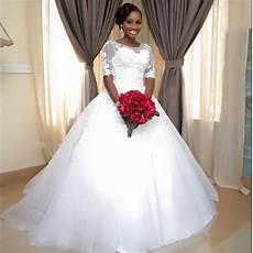 Vintage Wedding Dresses For Sale Jhb 2017 newest vintage gown lace half sleeve