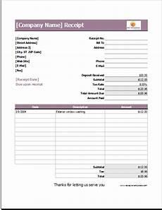wedding services receipt template for excel receipt
