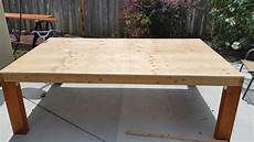 Table With Plywood Top
