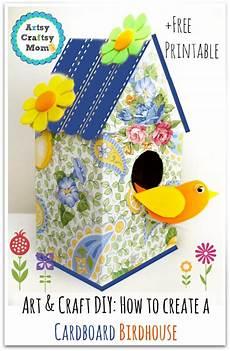how to make a decorative cardboard bird house artsy