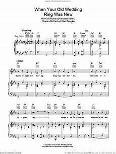 mccarthy when your old wedding ring was new sheet music for voice piano or guitar