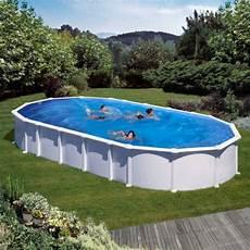 piscina acero haiti ovalada blanca de 132 cm