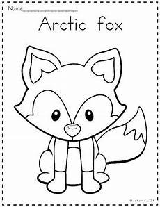 arctic animals printable coloring pages 17219 arctic animals coloring pages by the kinder tpt