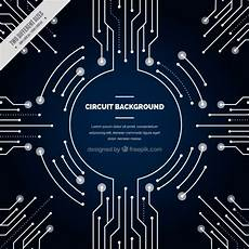 circuit connections dark blue background with circuit connections vector free download
