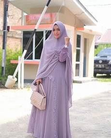 15 Model Jubah Syari Wanita Terbaru 2018 Mesin Jahit