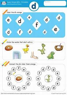 free phonics worksheets letter d 24185 letter recognition phonics worksheet d lowercase simple