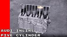 Audi Inline Five Cylinder Engine Animation