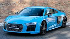 2017 audi r8 v10 plus riviera blue walkaround interior loud revs high quality youtube