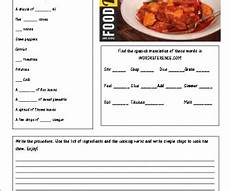 worksheets for elementary students 18860 cooking a recipe