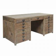 pine home office furniture printmakers recycled pine timber 9 drawer 180cm desk