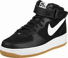 nike air 1 mid 07 shoes black white