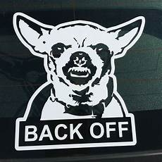 chihuahua back bumper sticker vinyl window