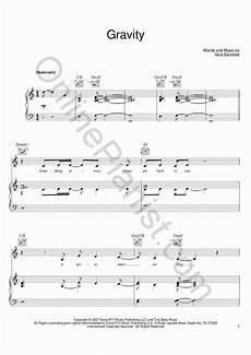 gravity piano sheet music onlinepianist