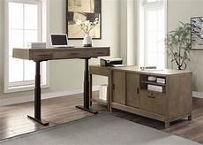 modular desk furniture home office midtown modular home office set w power lift desk parker