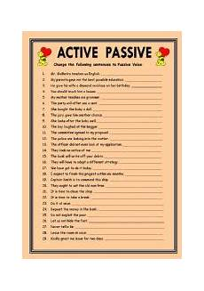 english worksheets passive voice worksheets page 32