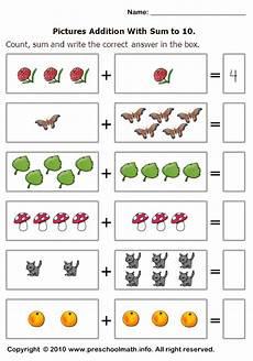simple math addition worksheets with pictures 9646 basic addition worksheets with sum to 10 tarefas do jardim de inf 226 ncia matem 225 tica simples