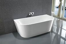 Le Rond Back To Wall Freestanding Acrylic Bath Tub