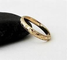 thin floral wedding band gold wedding ring women s wedding