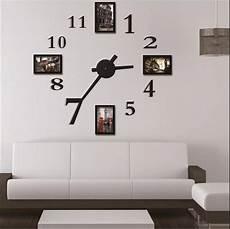 Cadre Photo Horloge Murale Design Moderne Num 233 Rique Grand
