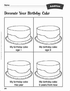 birthday cake worksheet 20213 decorate your birthday cake counting and adding addition activity printable lesson plans