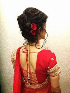 Simple Hairstyles For Indian Wedding Reception