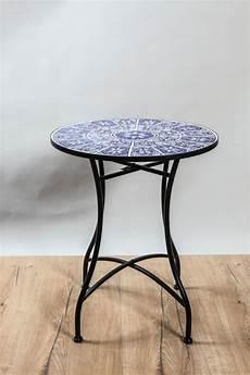 mosaiktisch rund mosaiktisch rund blau 60 x 60 x 71 cm online kaufen bei