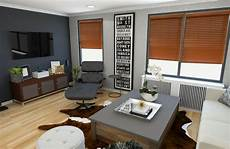 before after modern rustic living room design