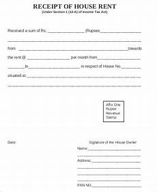 house rent receipt free 5 sle house rent receipts in ms word pdf