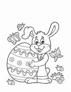 Ausmalbilder Ostern Ei Kostenlose Ausmalbilder Ostern Osterhase Mit Grossem Ei