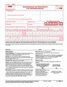 2018 2019 irs form 1096 editable online blank in pdf