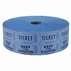 Blue Raffle Ticket Roll