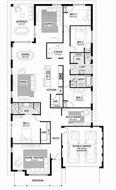 modern four bedroom house plans best of narrow lot 4 bedroom house plans new home plans