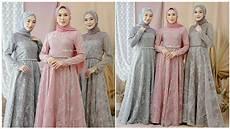 Model Baju Gamis Brokat Simple Elegan Buat Pesta Kondangan