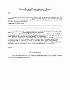 kansas 14 day notice to quit form non compliance