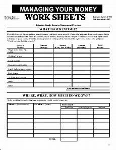 managing your money worksheets budgeting worksheets budgeting finances budgeting money