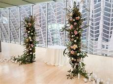 Flower Pillars Wedding