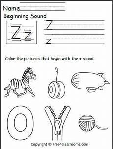 free beginning z sound worksheet beginning sounds worksheets learning letters