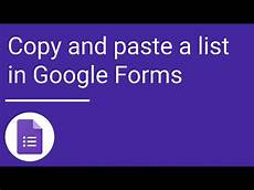 copy and paste a list forms youtube