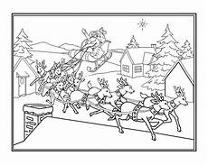 sleigh and reindeer coloring pages at getcolorings