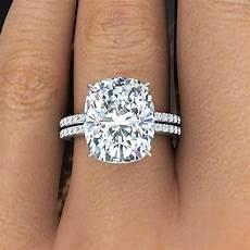 2 60 ct natural rectangular cushion cut pave diamond engagement ring ebay