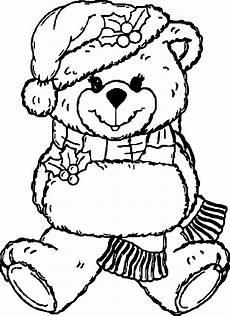 ausmalbilder weihnachten teddy