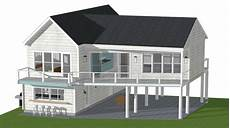 beach house plans on pilings small beach house plans pilings google search small